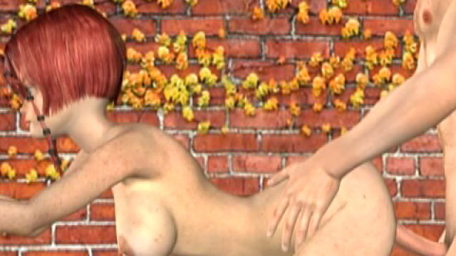 Lustful Redheaded Three-d Female Friend With Massive Grillwork Misty Will Get Knowstared Puppy On The Wall