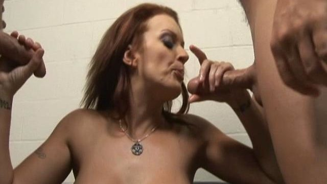 Monica Mayhem Is Helping Those Two Rock Arduous Dicks Cum