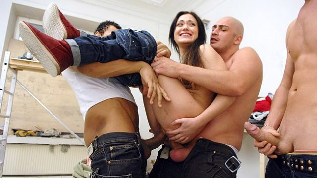 A Bunch Of Builders Onerous Drilled Girl