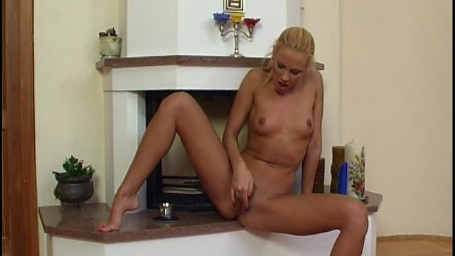 Wonderful Blonde Bairn Rubbing And Dildoing Her Bald Gammon Flaps