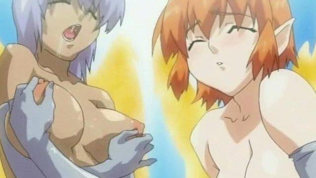 2 Super-naughty Manga Porn Ladyboys Fondling Their Impressive Titties