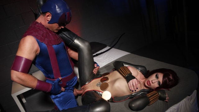 Marvel Girl Heads Down On Her Stud Heroine