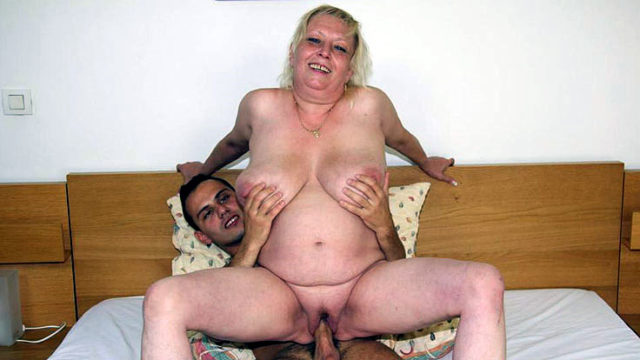 Obese Senior Super-bitch Absorbs Man-meat