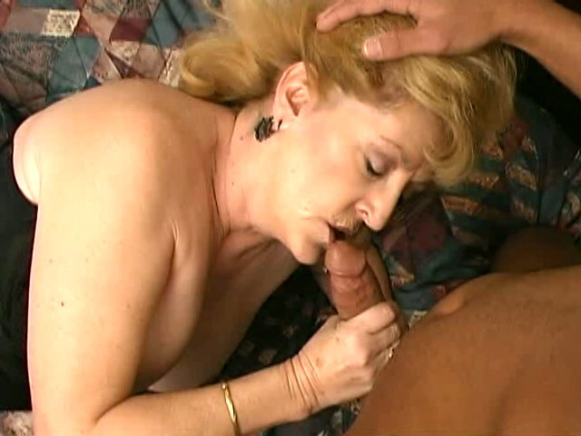 Unshod Buxom Blondie Grandmother Kitten Fox Deepthroating A Ample Dark-hued Sausage In Bed Room