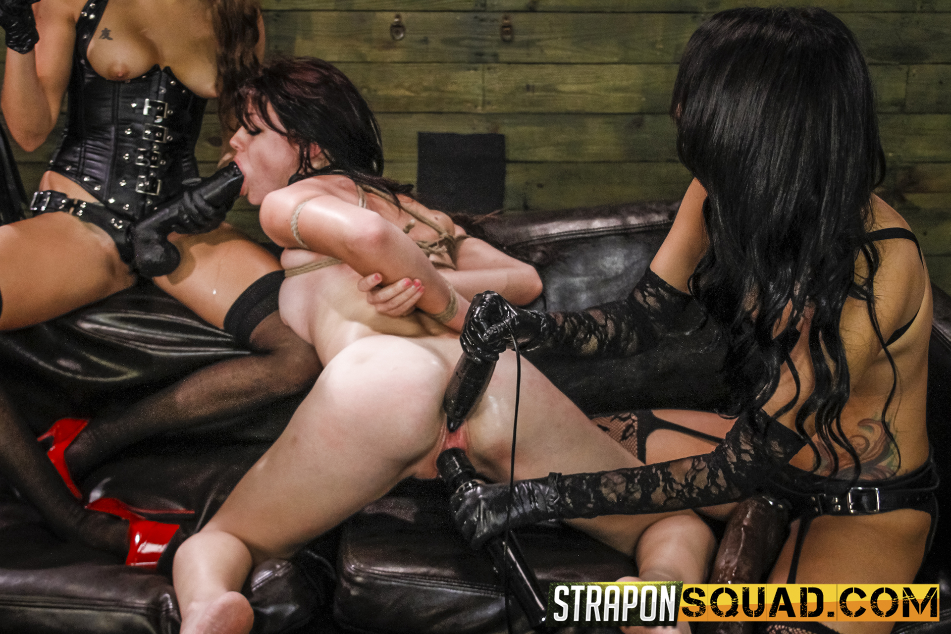 Lezzie Predominance & Sybian Saddle Threeway With Kaisey Dean, Marina Angel, Esmi Lee