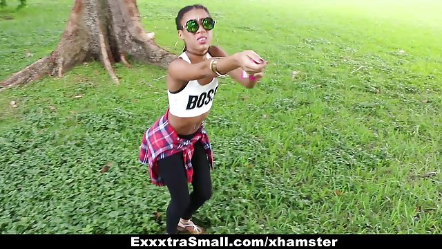 Exxxtrasmall – Nice Little Black Juggles On Hefty Beef Whistle